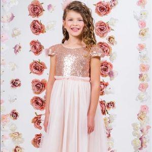 """Kid's Dream"" Sequin mesh pleated dresses"